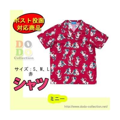 ミニー アロハシャツ S M L 赤色 男女兼用 東京ディズニーリゾート 限定