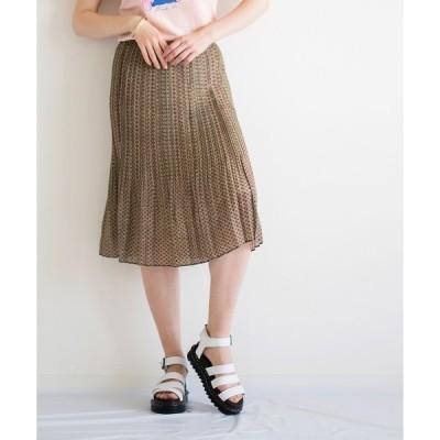 スカート And A 幾何柄ボックスプリーツスカート