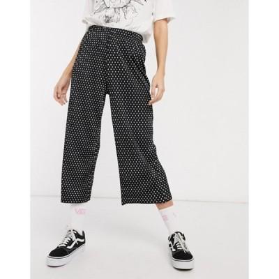 エイソス レディース カジュアルパンツ ボトムス ASOS DESIGN plisse culotte in polka dot