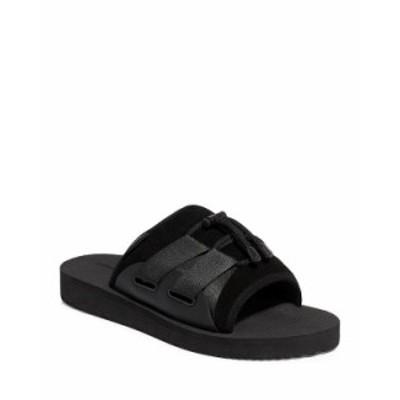 オールセインツ メンズ サンダル シューズ Men's Ryder Drawcord Slide Sandals Black