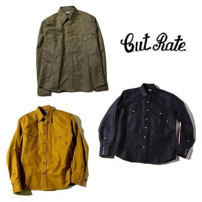 セール50%オフ CUT RATE カットレイト L/S TWILL WESTERN SHIRT 長袖シャツ