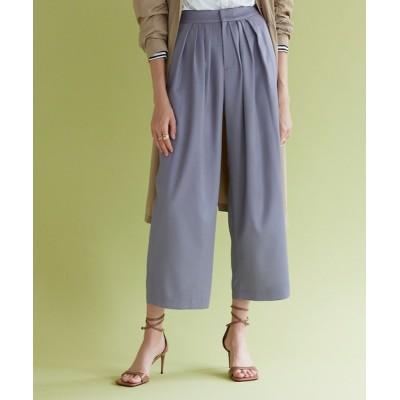 White Collection / ボリュームタックコーティングサテンパンツ WOMEN パンツ > スラックス