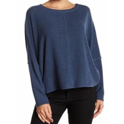ファッション トップス H by Bordeaux NEW Heathered Blue Womens Size Small S Dolman Knit Top #927