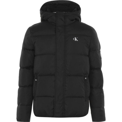 カルバンクライン Calvin Klein Jeans メンズ ダウン・中綿ジャケット アウター Padded Hood Jacket CK Black