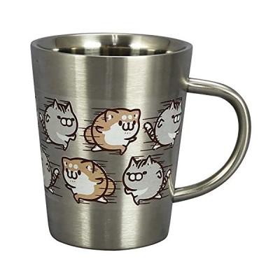 山加商店 LINEクリエイターズ公式 二重 ステンレス マグカップ 約360ml 「 ボンレス犬とボンレス猫 」 日本製 LIN23-856 シルバー
