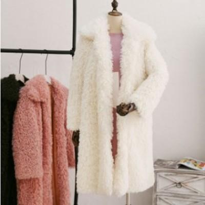 2021年 新作 送料無料 ホワイト もこもこファーコート フード付き 中綿コート 大人上品 ジャケット コート 冬アウター 暖か 長袖 大人可