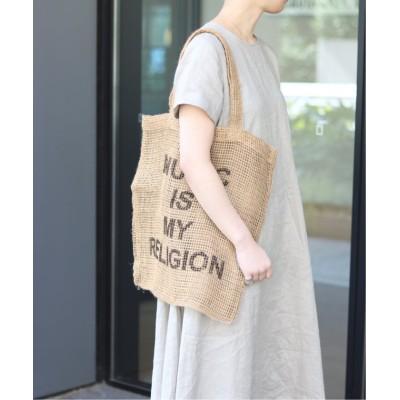 【ル タロン】 MAISON BENGAL ジュートメッシュバッグ◆ レディース ベージュ フリー Le Talon