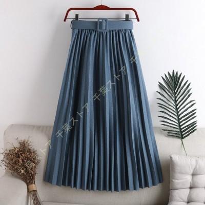 チュールスカート ロング スカート フレアスカート プリーツスカート シアースカート ミディアム ベルト付き キラキラ ウエストゴム マキシスカート