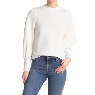 ウォルターベーカー レディース シャツ トップス Mira Puff Sleeve Long Sleeve Top WHITE
