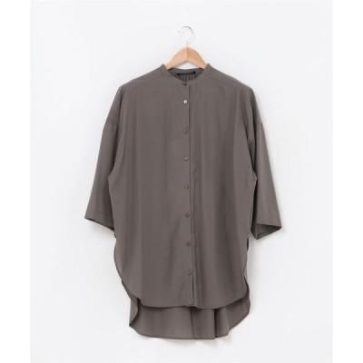 シャツ ブラウス ポンチョシャツ