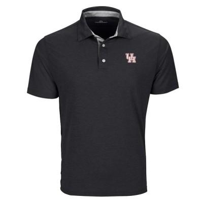 """メンズ ポロシャツ """"Houston Cougars"""" Pro Signature Polo - Black"""