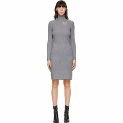 メゾン マルジェラ Maison Margiela レディース ワンピース ワンピース・ドレス Grey Destroyed Turtleneck Dress Grey