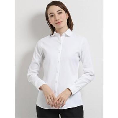 レピュトン ラウンドカラー長袖シャツ