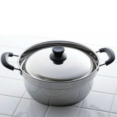 カクセー KAKUSEE Returner(リターナ) IH対応 ふきこぼれにくい両手鍋 24cm RTN-04 キッチン用品