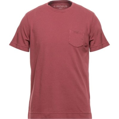 チルコロ1901 CIRCOLO 1901 メンズ Tシャツ トップス t-shirt Garnet