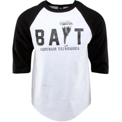 BAIT メンズ 長袖Tシャツ ラグラン トップス x Bruce Lee High Kick Raglan Tee - SDCC Exclusive white/black/black