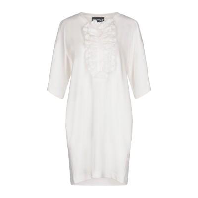 BOUTIQUE MOSCHINO ミニワンピース&ドレス ホワイト 44 100% コットン ミニワンピース&ドレス