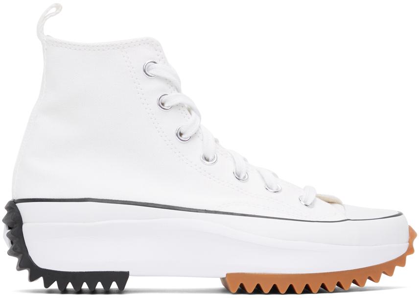 Converse 白色 Run Star Hike 高帮运动鞋