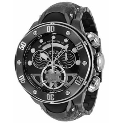Invicta Mens Reserve Swiss Quartz Watch with Stainless Steel Silicone Strap Black Steel 304 Model 33483