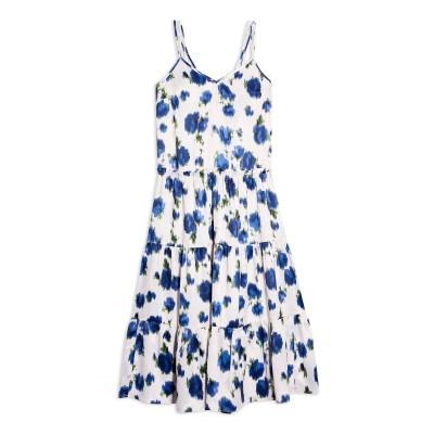 トップショップ TOPSHOP 7分丈ワンピース・ドレス ホワイト 6 ポリエステル 100% 7分丈ワンピース・ドレス