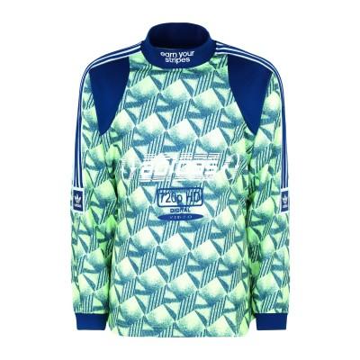 ADIDAS ORIGINALS スウェットシャツ ビタミングリーン S リサイクルポリエステル 100% スウェットシャツ