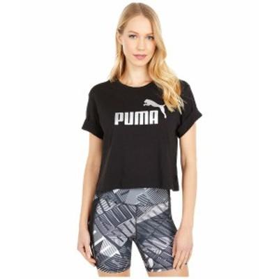 プーマ レディース シャツ トップス Essential Metallic Cropped Tee Puma Black/Silver