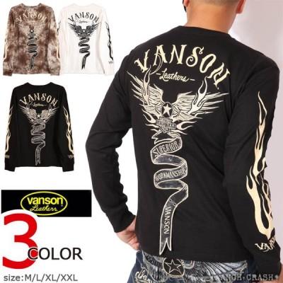 VANSON バンソン フライングエンブレム ロンT NVLT-2026 長袖Tシャツ ロングTEE 刺繍