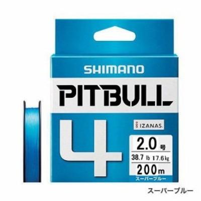 【メール便対応】 シマノ ピットブル 4 PL-M54R 150M スーパーブルー 2.0号 [PEライン]