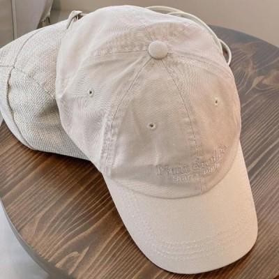 BANHARU レディース キャップ Dana lettering embroidered ball cap