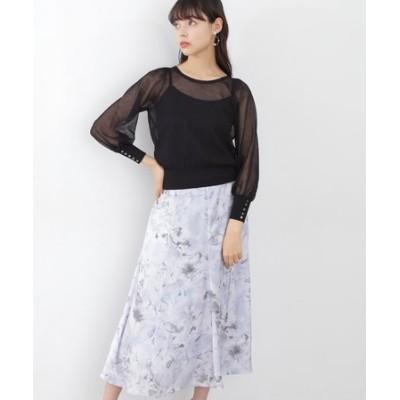  美人百花4月号掲載商品 マーブルフローラルスカート