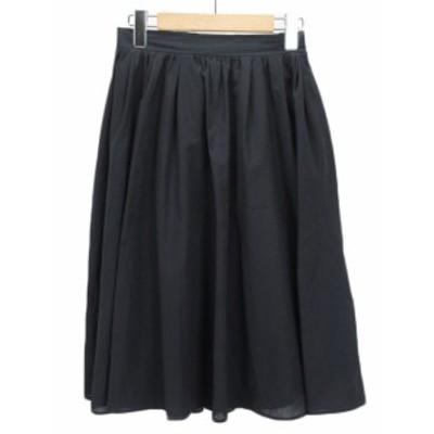 【中古】ロペピクニック ROPE Picnic サップギャザースカート 40 紺 ネイビー レディース