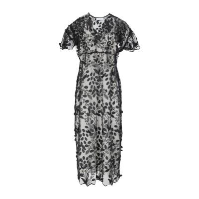 カオス KAOS 7分丈ワンピース・ドレス ブラック 38 ポリエステル 100% 7分丈ワンピース・ドレス