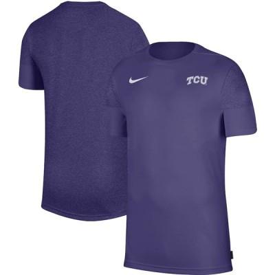 """ナイキ メンズ Tシャツ """"TCU Horned Frogs"""" Nike Coaches Performance T-Shirt - Purple"""