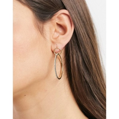 ピルグリム Pilgrim レディース イヤリング・ピアス ジュエリー・アクセサリー gold-plated hoop earrings featuring fien crystals ゴールド