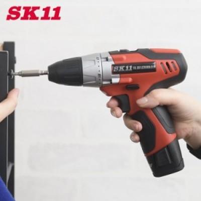 藤原産業 SK11 電動ドリルドライバー 10.8v クラッチ機能 SDD-108V-15RLS  電動ドリル 電動工具 DIY