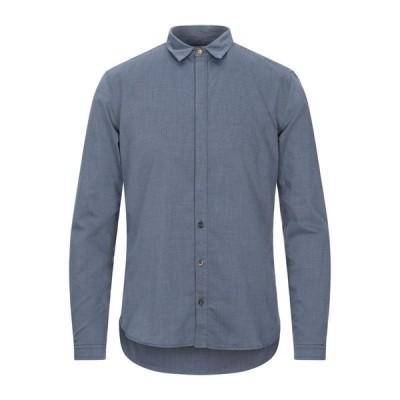 BERNA 無地シャツ  メンズファッション  トップス  シャツ、カジュアルシャツ  長袖 ブルー