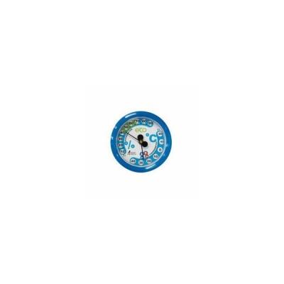 SHINWA/シンワ測定  温湿度計 F-2S 環境管理 丸型 6.5cm アクアブルー 70514