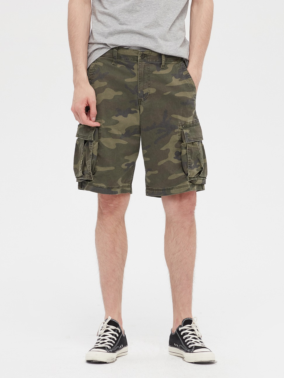 男裝 工裝風格舒適休閒短褲