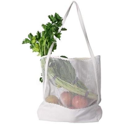 エコバッグ 折りたたみ ショッピングバッグ 人気 大容量 ファッション 買い物バッグ ネットバッグ 帆布 トートバッグ 白い