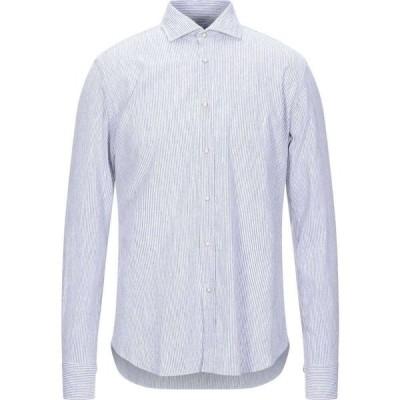 ザカス XACUS メンズ シャツ トップス striped shirt Blue