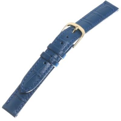 [トップモア]TOP MOA 時計バンド 牛 (クロコ型押) 青12mm 04013