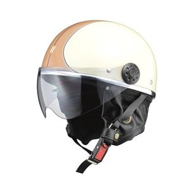 リード工業(LEAD) バイク用ハーフヘルメット O-ONE(オワン) アイボリー/ブラウン -