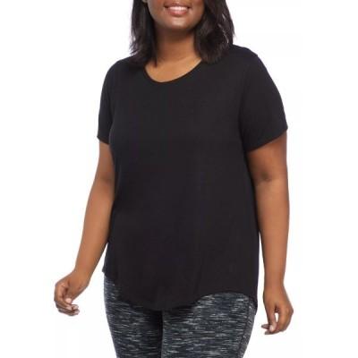 ゼロス Tシャツ トップス レディース Plus Size Short Sleeve Scoop Neck T-Shirt  -