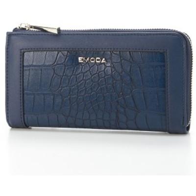 エモダ(EMODA)/クロコ型押しL字ファスナー財布