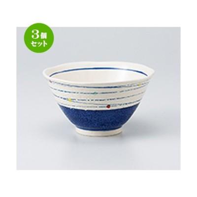 3個セット 丼 和食器 / 点彩渦多用丼(紺) 寸法:16 x 8.6cm
