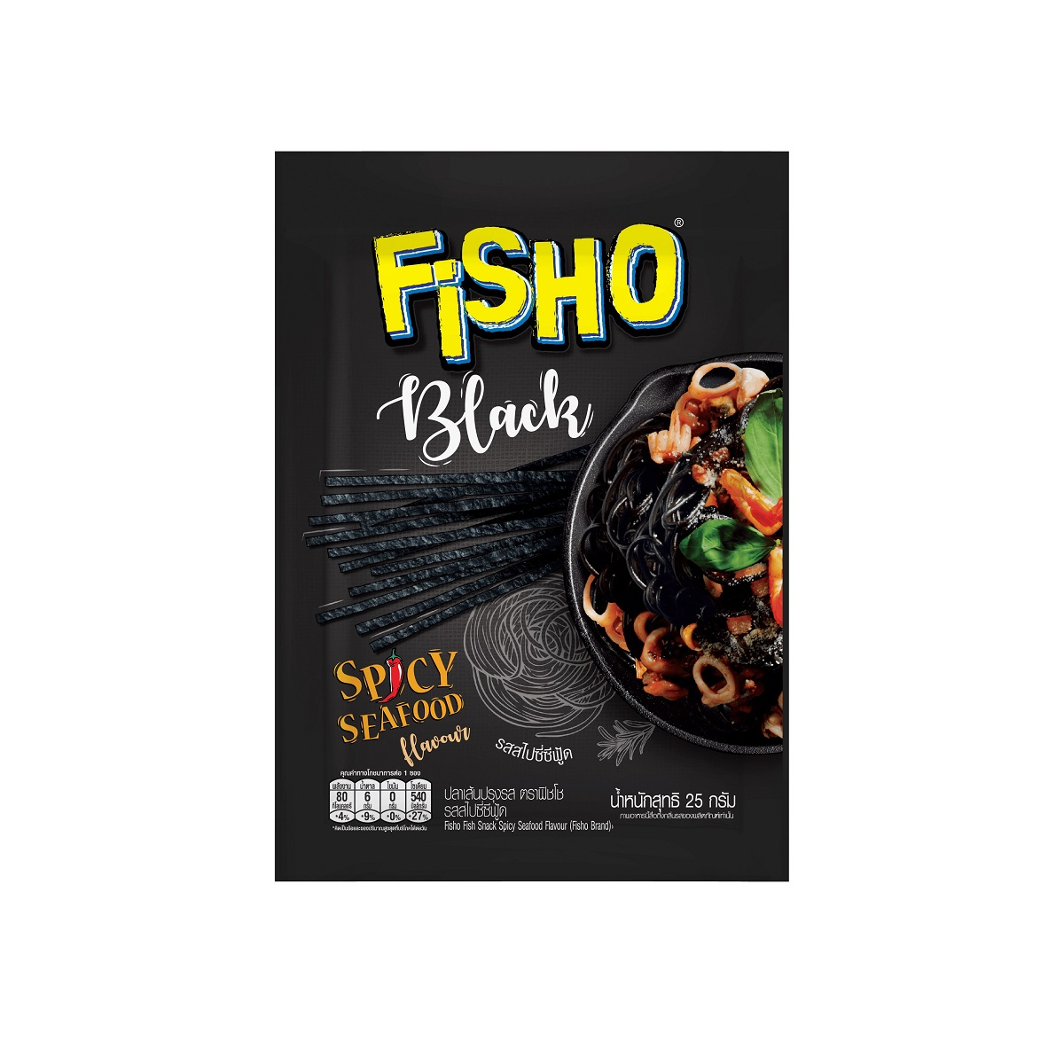 泰國Fisho 辣味海鮮風味魚絲條25g