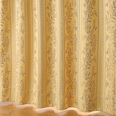 ベルーナインテリア 防音・断熱・保温・1級遮光ジャカード織カーテン ベージュ ベージュ 約幅100×丈110cm レディース