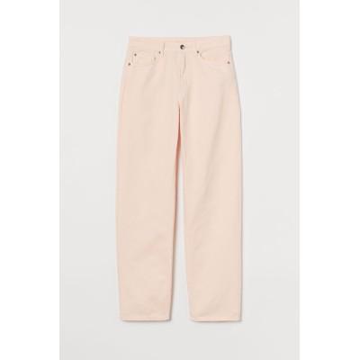 H&M - ルーズデニム - ピンク