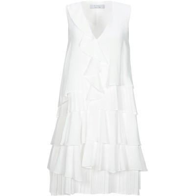 カオス KAOS ミニワンピース&ドレス ホワイト 40 ポリエステル 100% ミニワンピース&ドレス