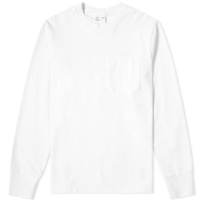 ヘルムート ラング Helmut Lang メンズ 長袖Tシャツ ポケット トップス Long Sleeve Pocket Tee Chalk White